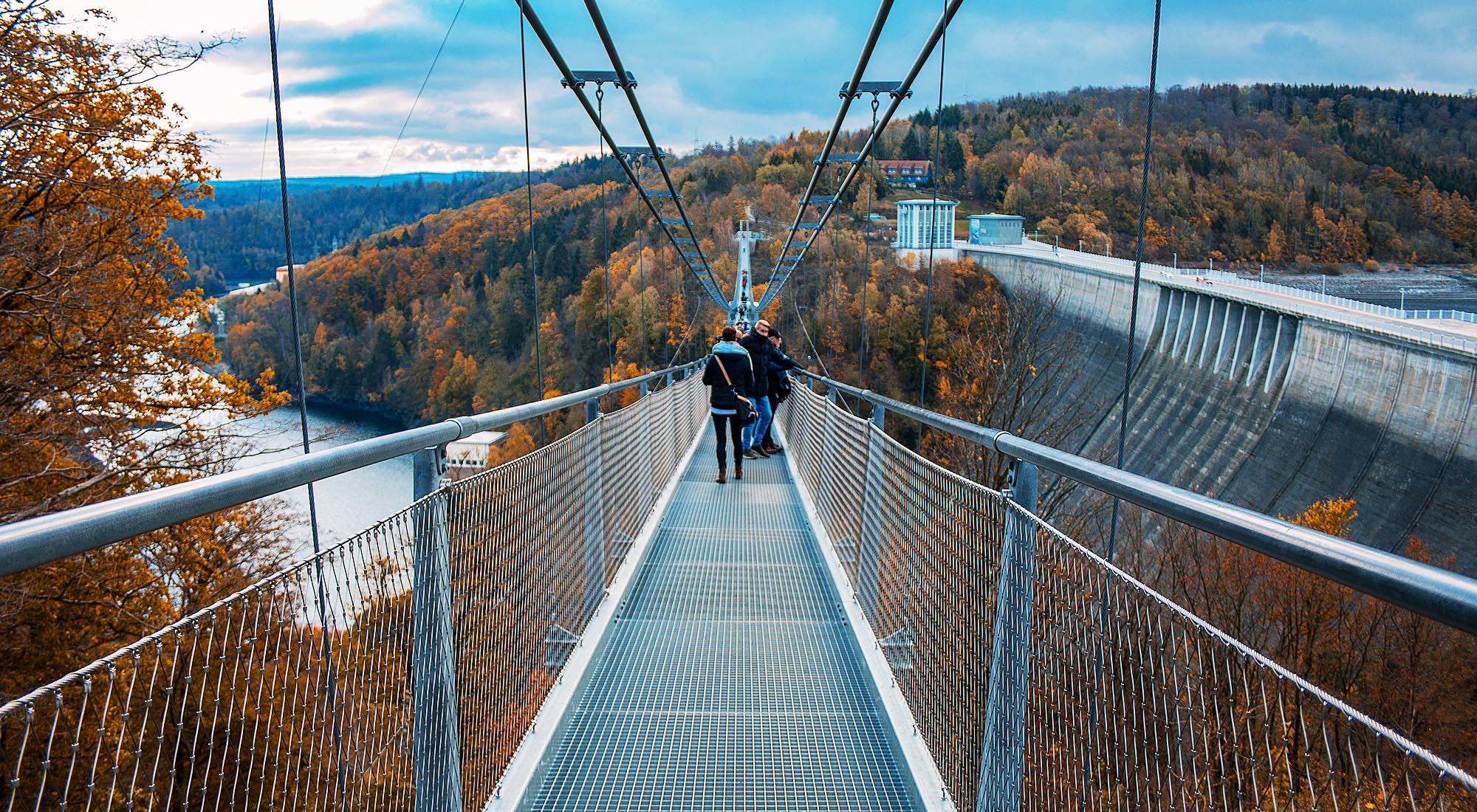 Titan Hängebrücke an der Rappbodetalsperre